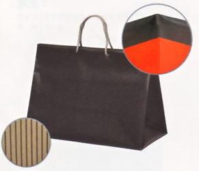引き出物袋・ブライダルバッグ「ツートンR(L)ブラック」2