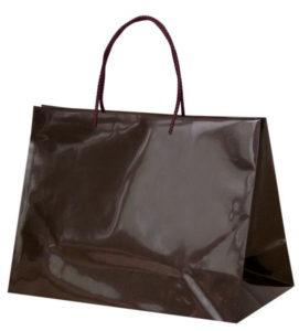 引き出物袋・ブライダルバッグ「GLOSSY ダークブラウン」