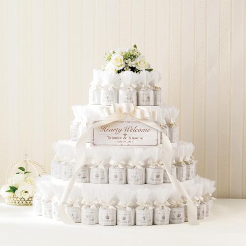 NEWホワイトウェディングケーキ(72個セット)