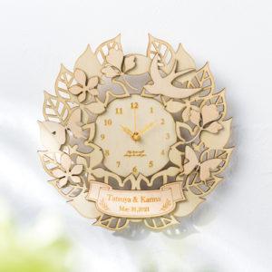 Natural Wood Clock Wreath