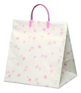 引き出物袋・ブライダルバッグ「 エレガントフラワー・ピンク」