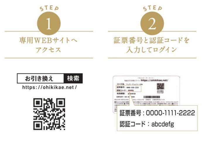 カード式カタログギフトMUSUBI 使い方①