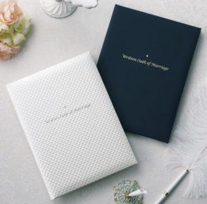 結婚証明書(パールホワイト/ネイビー)